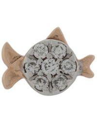 Kismet by Milka - 14kt Rose Gold Fish Diamond Stud - Lyst