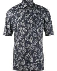 Lanvin Рубашка С Принтом Рыб - Синий