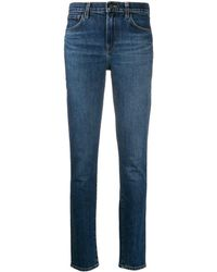 J Brand Cotton Blend Skinny Jeans - Blue