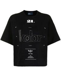 Kolor ロゴ Tシャツ - ブラック