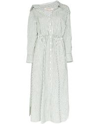 By Any Other Name Falling Off-the-shoulder Shirtdress - Green
