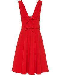 Miu Miu Vestido sin mangas con detalle de lazo - Rojo