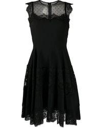 Dolce & Gabbana メッシュ プリーツドレス - ブラック