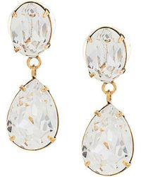 Jennifer Behr - Diamond Drop Earrings - Lyst