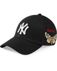 Gucci Baseball Pet Met Ny Yankees� Print - Zwart