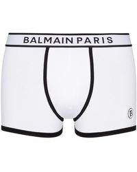Balmain ロゴ ボクサーパンツ - ホワイト