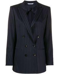 Tonello Pinstriped Double-breasted Blazer - Blue