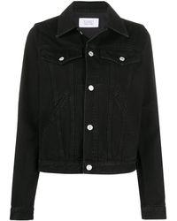 Givenchy ロゴ デニムジャケット - ブラック