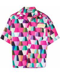 Formy Studio Hemd mit geometrischem Print - Pink