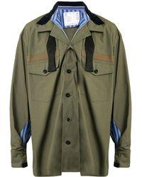 Sacai - オーバーサイズ パネルシャツ - Lyst