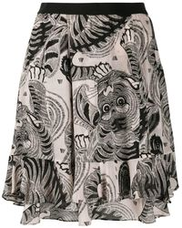 Dorothee Schumacher Graphic-print Flared Skirt - Black