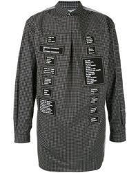 TAKAHIROMIYASHITA TheSoloist. Deconstructed Patch Logo Shirt - Black