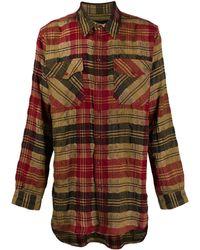 Uma Wang オーバーサイズ チェックシャツ - レッド