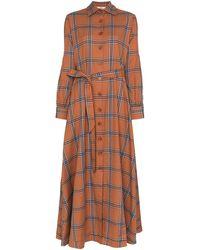 Evi Grintela Carla Check Shirt Dress - Brown