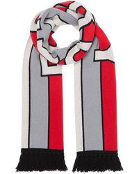 Burberry - ロゴ フリンジ スカーフ - Lyst