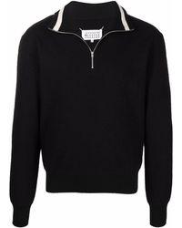 Maison Margiela ファンネルネック セーター - ブラック
