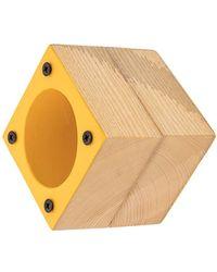 Corto Moltedo Square Big Bangle - Yellow