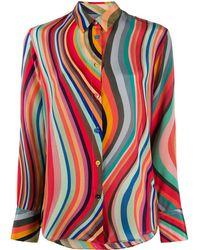 PS by Paul Smith Swirl-print Silk Shirt - Pink