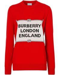 Burberry - Rigging インターシャセーター - Lyst