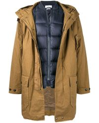 Closed - Hooded Zipped Coat - Lyst