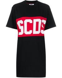 Gcds ロゴ Tシャツワンピース - ブラック