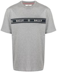 Bally ダブルロゴ Tシャツ - グレー