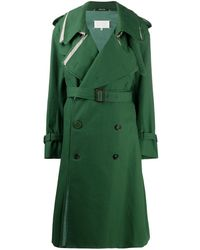 Maison Margiela Layered-effect Trench Coat - Green