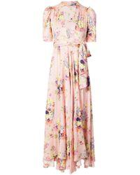 Jill Stuart Floral Plunge Dress - Pink