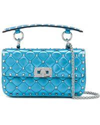 Valentino Garavani Rockstud Spike Bag - Blue