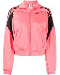 adidas ロゴ スポーツジャケット - ピンク