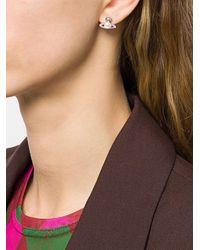 Vivienne Westwood Logo Stud Earrings - Metallic