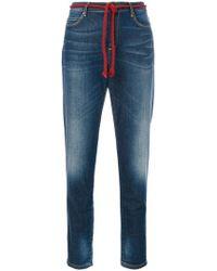 Bellerose - Rope Belt Cropped Jeans - Lyst