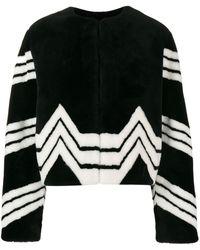 Givenchy Chaqueta a rayas chevron - Negro