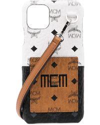 MCM Monogram Print Iphone 11 Case - Brown