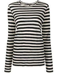Proenza Schouler ストライプ ロングtシャツ - ブラック