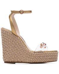 0c1c7a8ce292 Sophia Webster Suki Leopard Crystal   Suede Platform Sandals in ...