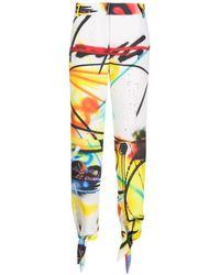 Off-White c/o Virgil Abloh Graffiti-print Ankle-tie Pants - White