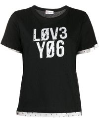 RED Valentino T-shirt Love You - Noir
