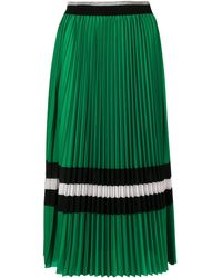 Macgraw Pleated Croquet Skirt - Green