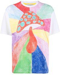 Mira Mikati T-Shirt mit Pilz-Print - Weiß