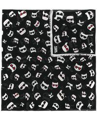 Karl Lagerfeld - K/ikonik Faces Scarf - Lyst