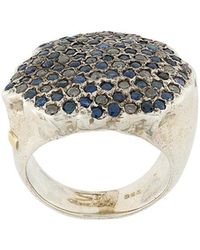 Rosa Maria - Pave Diamond And Sapphire Ring - Lyst