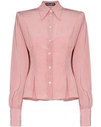 Dolce & Gabbana Рубашка С Подплечниками - Розовый