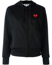 Play Comme des Garçons - Embroidered Heart Hoodie - Lyst