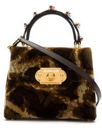 Dolce & Gabbana Сумка-сэтчел С Анималистичным Принтом - Многоцветный