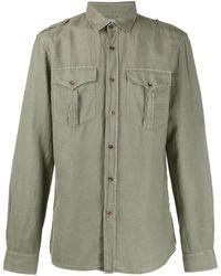 Brunello Cucinelli Рубашка В Стиле Милитари С Карманами - Зеленый