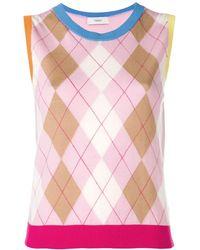 Pringle of Scotland Argyle カラーブロックセーター - ピンク