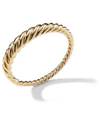 David Yurman - 18kt Yellow Gold Pure Form Cable Bangle - Lyst