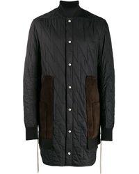 Rick Owens Duffle-coat matelassé à boutons pression - Noir
