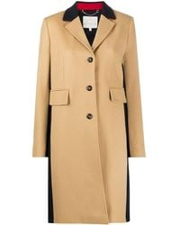 Tommy Hilfiger Colour Block Single Breasted Coat - Multicolour